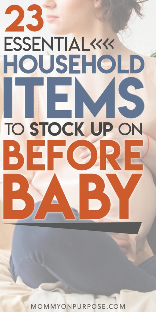 household items to stock up on before baby pinterest pin