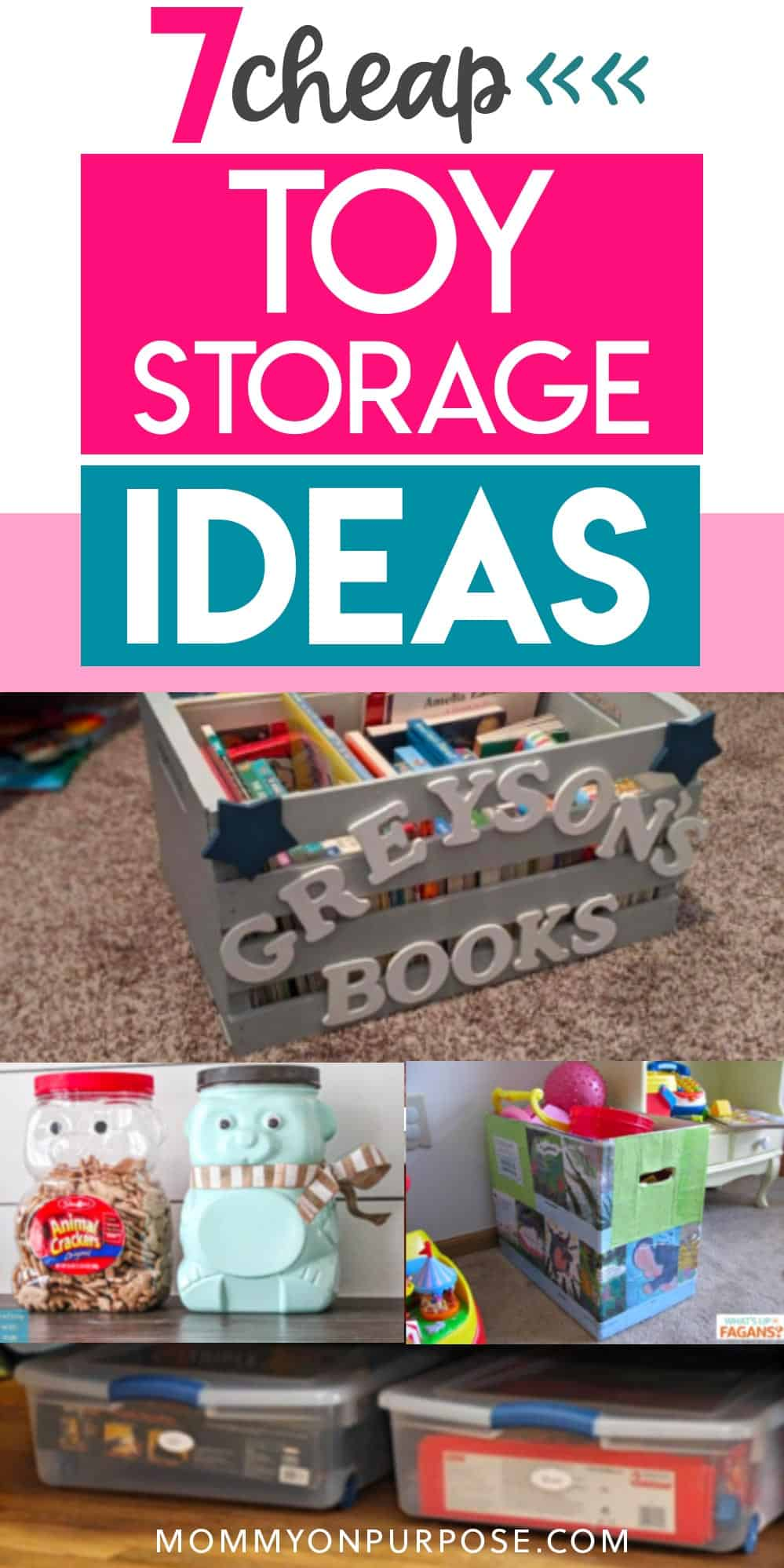 7 cheap toy storage ideas pinterest pin