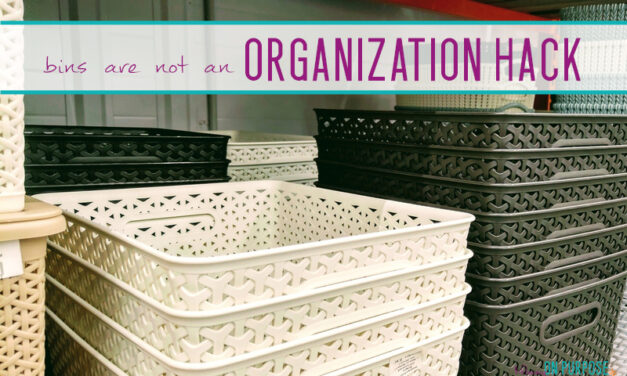 Why Plastic Bins Aren't Your Best Organizing Tool
